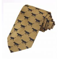 Luxury Woven Tie - Black Labrador