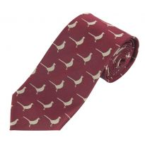 Luxury Woven Tie - Pheasant Burgundy