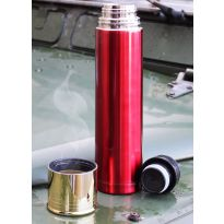Red Shotgun Shell Flask
