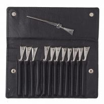 Shotgun Peg Finder in Leather Wallet