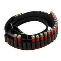 Havana Brown Adjustable Leather Cartridge Belt .410