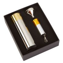 3oz Cartridge Hip flask and Keyring Torch