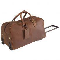 Leather & Canvas Flight Trolley