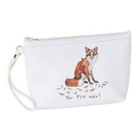Make up Bag and Compact Mirror - For Fox Sake