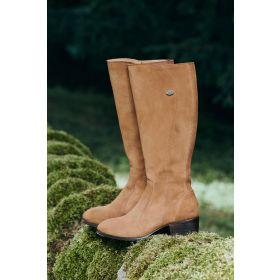Dubarry Downpatrick Ladies Suede Knee High Boots - Camel