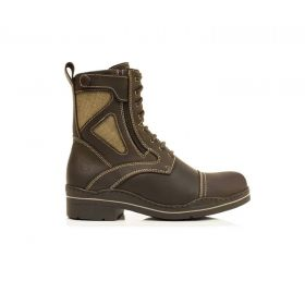 Kentucky Short Country leather and Corura Boots - Brown