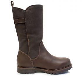Waterproof Leather Mid Calf Boots