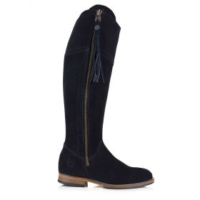 Ladies Spanish Style Boots with Tassel - Black