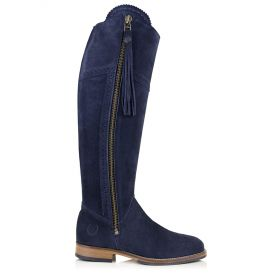 Ladies Spanish Style Boots with Tassel Navy Blue