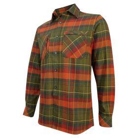 Luxury Hunting Shirt (Autumn) Green Orange Plaid