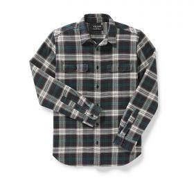 Filson's Vintage Flannel Work Shirt Black Teal Cream Check