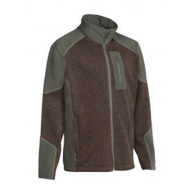 Clery Double Layer Full Zip Fleece and Softshell Jacket
