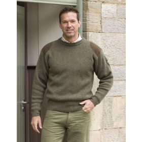 Hoggs of Fife Melrose Hunting Pullover - Soft Marled Green