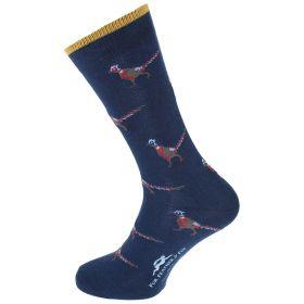 Dress Socks Pheasant Navy