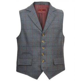 Tweed Bodmin Waistcoat - Airforce