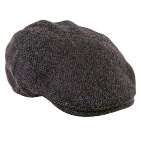Highland Harris Tweed Flat Caps - Brown Barleycorn