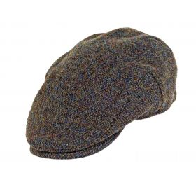 Highland Harris Tweed Flat Caps - Forest Green