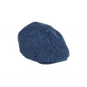Harris Tweed Cap Blue/Black 8 Piece