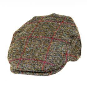 Chapman Tweed Flat Cap Brown/Red Check