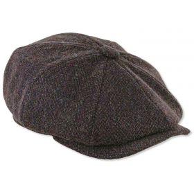 Peaky Blinders Harris Tweed Cap Brown