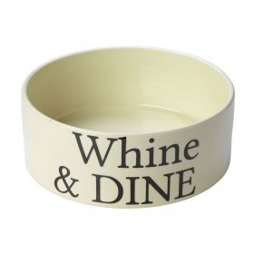 Whine and Dine Ceramic Dog Bowl