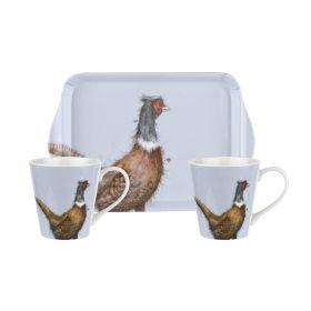 Wrendale Pheasant Mug and Tray Gift Set