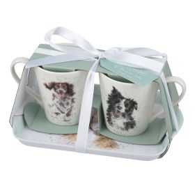 Wrendale Mug and Tray Set - Dogs