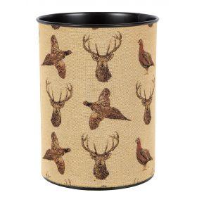 Highland Pheasant & Stag Waste Paper Bin