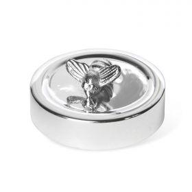 Silver Plated Honey Bee Jar Lid