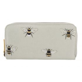 Ladies Oilcloth Wallet Bees