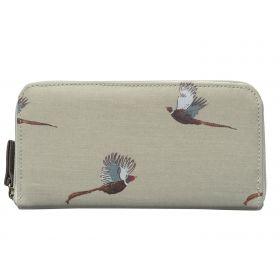 Ladies Oilcloth Wallet Pheasants