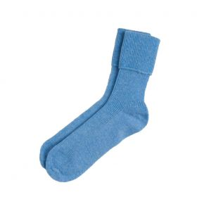 Ladies Cashmere Socks - Dusky Blue