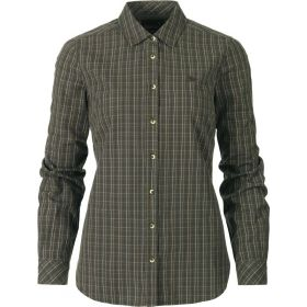 Seeland Ladies Claire Cotton Shirt - Olive Night Check