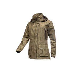 Baleno Pembrook Khaki Tweed Check Waterproof Jacket
