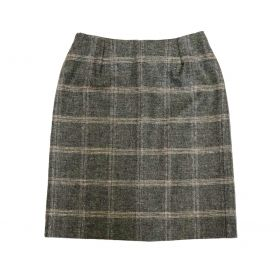 Holly Tweed Pencil Skirt - Silver Blue