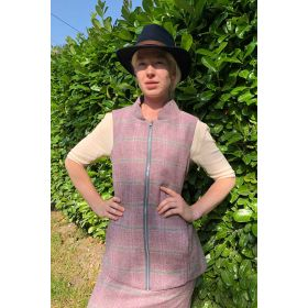 Serina Tweed Gilet Light Pink