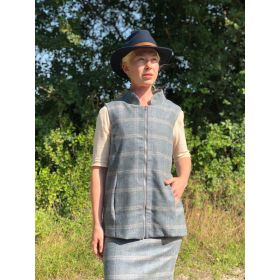 Holly Tweed Gilet Silver Blue