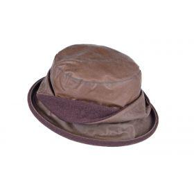 Ladies Twist Waxed Cotton Hat - Brown