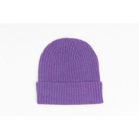 Ladies Lambswool Beanie - Purple