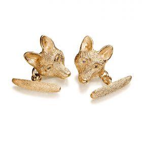 Fox Cufflinks - Gold