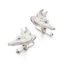Fox Deco Cufflinks - Silver
