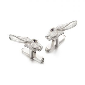 Hare Deco Cufflinks - Silver
