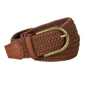 Baleno Stretch Corded Belt Cognac
