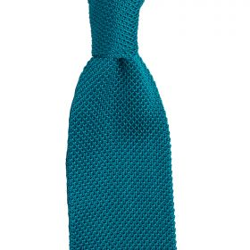 Knitted Silk Tie Turquoise