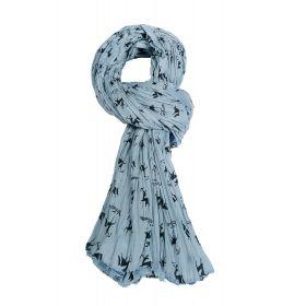 100% Cotton Scarf - Blue