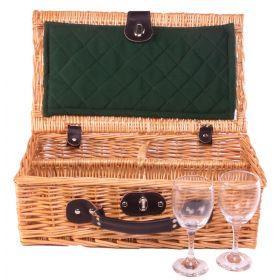 2 Glass Presentation Drinks Basket