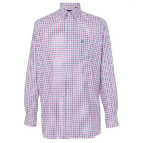 Alan Paine Kids Ilkley Shirt - Pink Blue Check