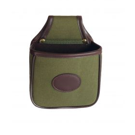Canvas and Leather Cartridge Loader Pouch Small