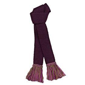 Contrast Wool Garters Plum/Pink