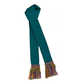 Contrast Wool Garters Turquoise/Gold